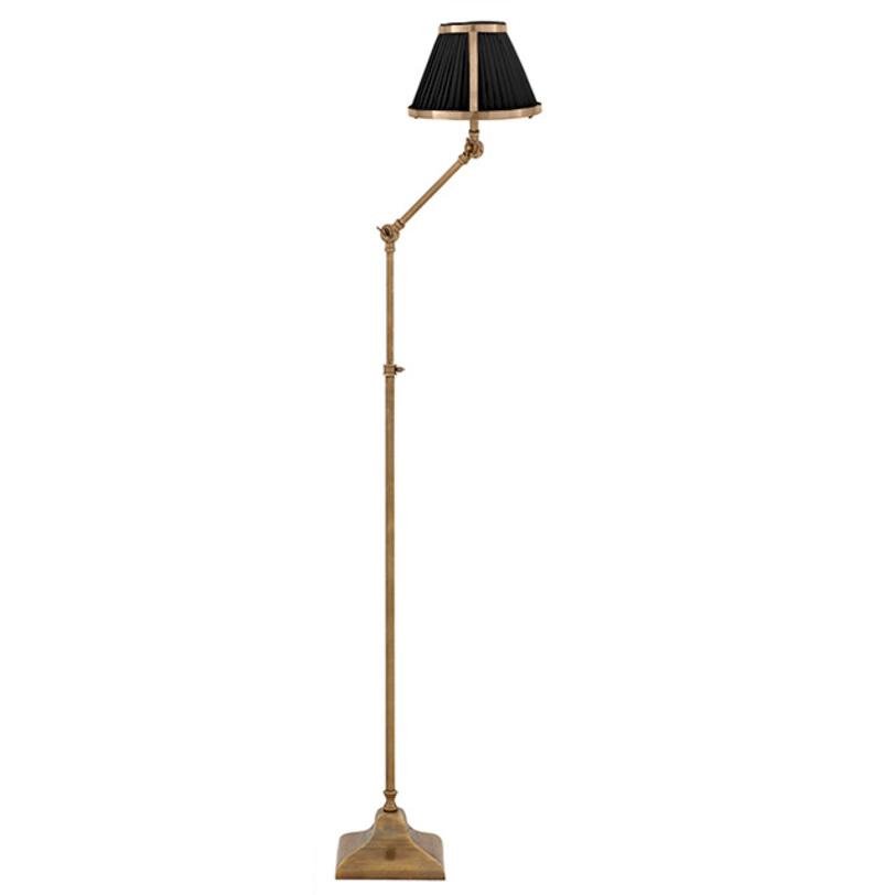 Торшер Lamp Floor BrunswickТоршеры<br>База лампы из металла, цвет - состаренная латунь. Абажур бежевый или черный. Высота регулируется 105-135 см.<br><br>Количество лампочек: 1<br>Мощность: 1x 40 Вт<br>Тип лампы: Накаливания, E27<br><br>Material: Металл<br>Length см: None<br>Width см: None<br>Depth см: None<br>Height см: 135<br>Diameter см: 20