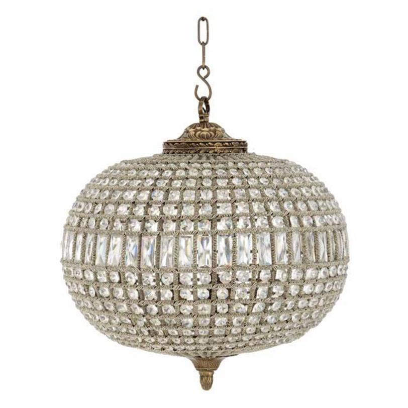 Подвесной светильник Chandelier Kasbah Oval MediumПодвесные светильники<br>&amp;lt;div&amp;gt;Подвесной светильник от голландского бренда Eichholtz напоминает драгоценное украшение, блистательное и остающееся актуальным всегда, вне меняющейся моды.&amp;lt;br&amp;gt;&amp;lt;/div&amp;gt;&amp;lt;div&amp;gt;&amp;lt;br&amp;gt;&amp;lt;/div&amp;gt;Цвет металла - состаренная латунь. Высота подвеса регулируется.<br><br>Количество лампочек: 3<br>Мощность: 3 x 40 Вт&amp;amp;nbsp;&amp;lt;div&amp;gt;Цоколь: E14&amp;lt;/div&amp;gt;<br><br>Material: Металл<br>Length см: None<br>Width см: None<br>Depth см: None<br>Height см: 52<br>Diameter см: 52