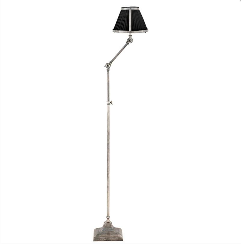 Торшер Lamp Floor BrunswickТоршеры<br>Основание напольного светильника из металла, цвет - тусклое серебро.<br><br>Количество лампочек: 1<br>Мощность: 1 x 40 Вт<br>Цоколь: E27<br><br>Material: Металл<br>Length см: None<br>Width см: None<br>Depth см: None<br>Height см: 135<br>Diameter см: None