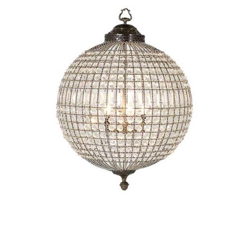 Подвесной светильник Chandelier Kasbah MediumПодвесные светильники<br>Подвесной светильник от голландского бренда Eichholtz напоминает драгоценное украшение, блистательное и остающееся актуальным всегда, вне меняющейся моды.&amp;lt;div&amp;gt;&amp;lt;br&amp;gt;&amp;lt;/div&amp;gt;&amp;lt;div&amp;gt;Цвет металла - состаренная латунь.&amp;lt;/div&amp;gt;&amp;lt;div&amp;gt;Высота подвеса регулируется за счет звеньев цепи.&amp;amp;nbsp;&amp;lt;div&amp;gt;Количество лампочек: 3&amp;amp;nbsp;&amp;lt;/div&amp;gt;&amp;lt;div&amp;gt;Мощность: 3 x 40 Вт&amp;amp;nbsp;&amp;lt;/div&amp;gt;&amp;lt;div&amp;gt;Цоколь: E14&amp;lt;/div&amp;gt;&amp;lt;/div&amp;gt;<br><br>Material: Стекло<br>Length см: None<br>Width см: None<br>Depth см: None<br>Height см: 64<br>Diameter см: 47