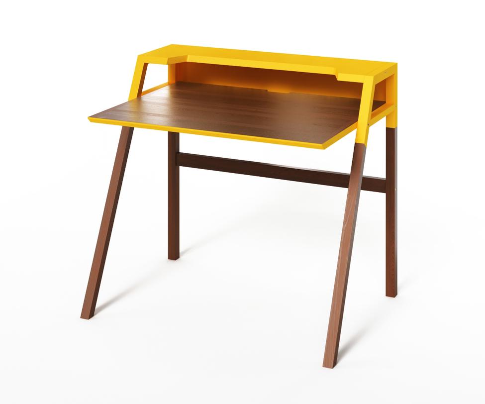 Компьютерный стол YOUKПисьменные столы<br>&amp;lt;p class=&amp;quot;MsoNormal&amp;quot;&amp;gt;Столик&amp;amp;nbsp;YOUK рожден для энергичной работы за компьютером. Темное дерево в сочетании с ярко-желтой отделкой придаст обстановке деловой характер, подчеркнув творческий подход. Идеален для интерьеров, выполненных в минималистичных стилях.&amp;lt;/p&amp;gt;<br><br>Material: Дерево<br>Length см: 90<br>Width см: 70<br>Depth см: None<br>Height см: 88<br>Diameter см: None