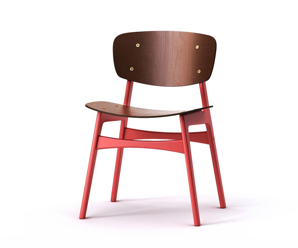 Стул SIDОбеденные стулья<br>Стильный и практичный стул &amp;quot;SID&amp;quot; &amp;amp;nbsp;обрадует поклонников скандинавского дизайна.&amp;amp;nbsp;&amp;lt;span style=&amp;quot;line-height: 1.78571429;&amp;quot;&amp;gt;Спинка и сидение слегка изогнуты, что обеспечит полный комфорт во время трапезы.&amp;amp;nbsp;&amp;lt;/span&amp;gt;&amp;lt;span style=&amp;quot;line-height: 1.78571429;&amp;quot;&amp;gt;Трапециевидные ножки окрашены в яркий красный оттенок, создавая цветовой контраст с темным деревом. Подобное решение подчеркнет независимый и смелый характер помещения.&amp;lt;/span&amp;gt;<br><br>Material: Дерево<br>Ширина см: 54<br>Высота см: 78<br>Глубина см: 46