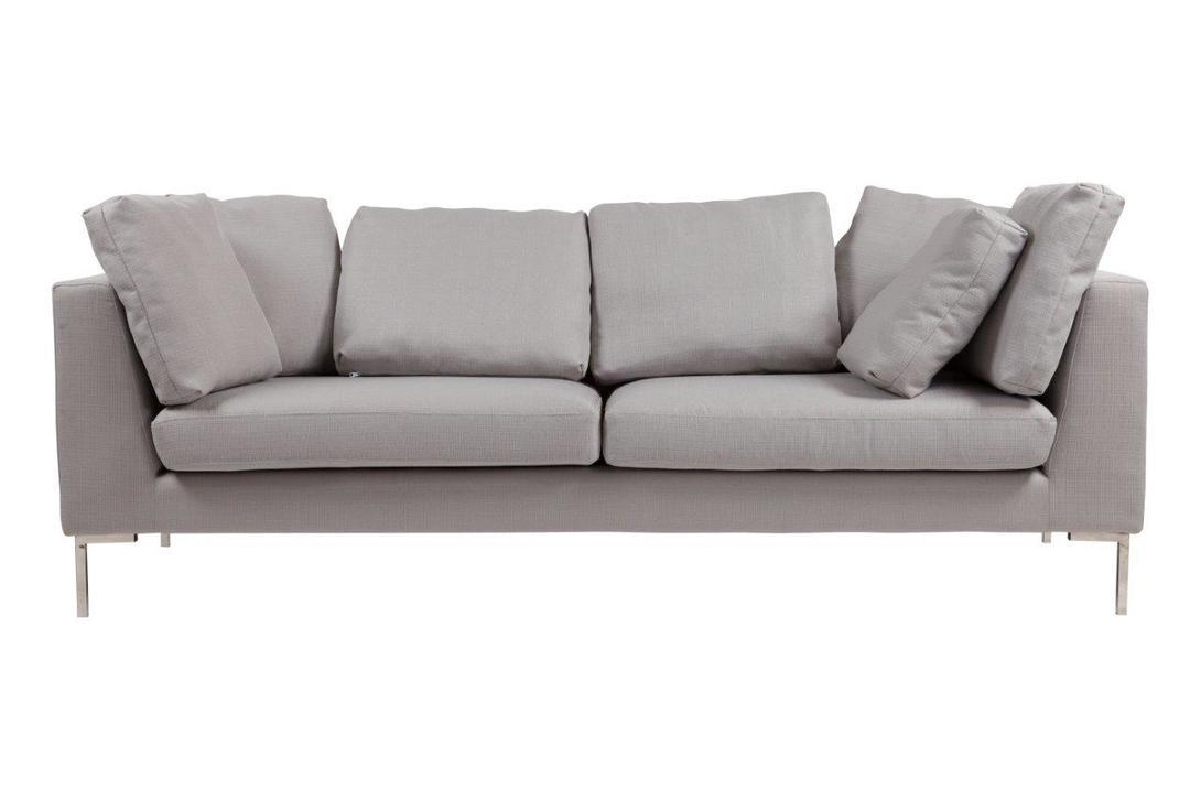 Диван Charles Sofa Grande Light GreyТрехместные диваны<br>&amp;lt;div&amp;gt;Диван в минималистичном дизайне добавит в пространство легкости и света. Модель от DG-Home отлично подойдет гостиной, выполненной в скандинавском стиле. Простой и лаконичный силуэт традиционен для интерьеров северных стран. Обивка теплого серого оттенка делает образ мягким и воздушным. Деревянный каркас и стальные ножки предназначены исключительно для устойчивости. А в качестве декора дизайнеры предложили квадратные подушки, придающие Charles Sofa Grande Light Grey благородство. &amp;amp;nbsp;&amp;lt;br&amp;gt;&amp;lt;/div&amp;gt;&amp;lt;div&amp;gt;&amp;lt;br&amp;gt;&amp;lt;/div&amp;gt;Материал: ткань, поролон, деревянный каркас, ножки из нержавеющей стали<br><br>Material: Текстиль<br>Length см: 220<br>Width см: 89<br>Depth см: None<br>Height см: 76<br>Diameter см: None