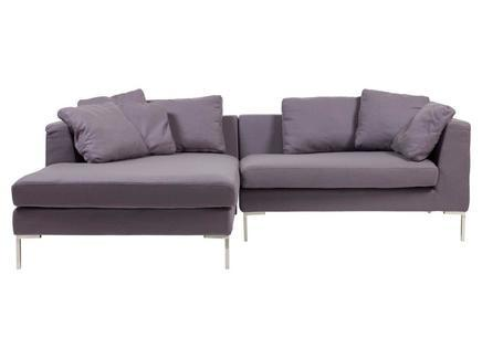 "Диван ""Charles Sofa  Sectional Left Grey Cashmere"""