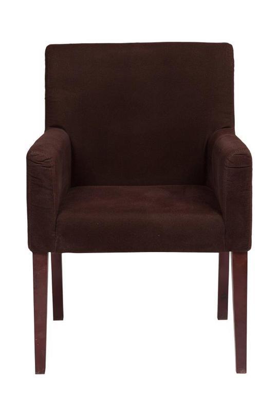 Кресло MollyПолукресла<br>&amp;lt;div&amp;gt;Скандинавский стиль в предметах мебели - это простые формы и минимум отделки.&amp;amp;nbsp;Кресло &amp;quot;Molly&amp;quot; шоколадного цвета отражает стремление к комфорту. На традиционный стул со средней спинкой одели велюровый чехол и получили уютное кресло. Его можно расположить в кабинете, гостиной или столовой.&amp;amp;nbsp;&amp;lt;/div&amp;gt;&amp;lt;div&amp;gt;&amp;lt;br&amp;gt;&amp;lt;/div&amp;gt;Материал: велюр, дерево<br>Цвет: Темно-коричневый<br><br>Material: Текстиль<br>Length см: 65<br>Width см: 68<br>Depth см: None<br>Height см: 88<br>Diameter см: None