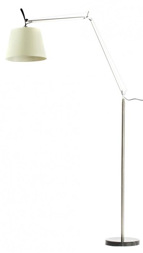 Торшер Artemide - Tolomeo Mega TerraТоршеры<br>Элегантная и стильная напольная лампа обеспечит удобное настраиваемое освещение. Изящная ножка из шарниров и стоек позволяет регулировать высоту и угол падения света. Белый, слегка гофрированный тканевый плафон и лаконичное черное основание придают торшеру легкость и воздушность, делая его украшением интерьера.<br>Материал: текстиль, металл<br>Модель рассчитана на одну лампочку с цоколем Е27.<br><br>Material: Текстиль<br>Length см: None<br>Width см: None<br>Depth см: None<br>Height см: 186<br>Diameter см: 34