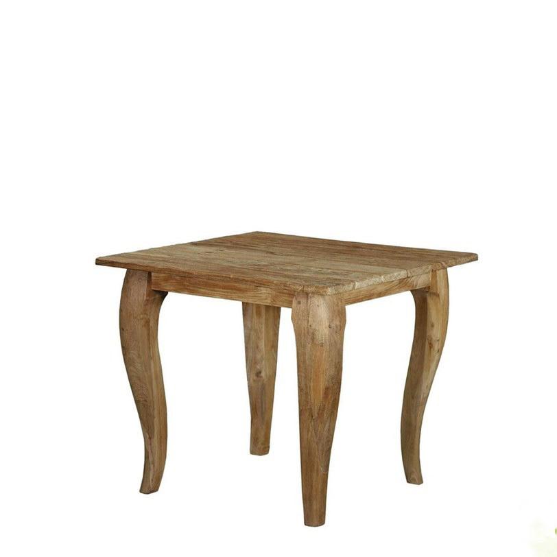 """Стол """"Luc""""Приставные столики<br>Стол Luc станет отличным выбором для гостиной в современном стиле, а также в стиле кантри. Форма ножек повторяет очертания &amp;quot;старшего брата&amp;quot; - обеденного стола Luc 150.<br><br>Material: Тик<br>Length см: None<br>Width см: 60.0<br>Depth см: 60.0<br>Height см: 60.0<br>Diameter см: None"""