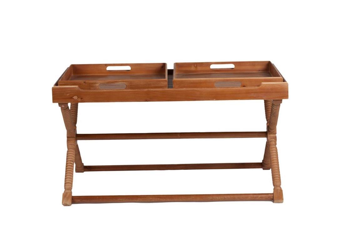 Стол TorusСервировочные столики<br>Интересный по конструкции и дизайну сервировочный стол &amp;quot;Torus&amp;quot; станет настоящим помощником во время вашей трапезы. Уникальность его заключается в съемных подносах, который можно переносить с собой в любую комнату, если их убрать, остается просторная столешница.<br><br>Material: Дерево<br>Length см: 107.0<br>Width см: 71.5<br>Depth см: None<br>Height см: 59.5<br>Diameter см: None