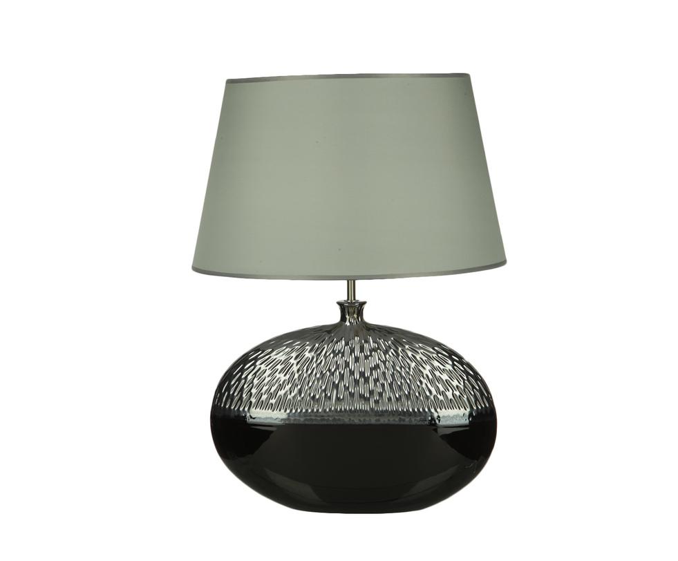 Настольная лампаДекоративные лампы<br>Настольная лампа выполнена из комбинации трех материалов. Трапециевидный абажур из плотной ткани создаст матовый рассеянный свет. Лаконичный образ абажура дополняет глянцевое основание из керамики. Использование в дизайне разнородных материалов делает ее универсальным предметом для разных интерьеров: от пышного ар-деко до минималистичного хай-тека.&amp;lt;div&amp;gt;&amp;lt;br&amp;gt;&amp;lt;/div&amp;gt;&amp;lt;div&amp;gt;&amp;lt;div&amp;gt;Вид цоколя: E27&amp;lt;/div&amp;gt;&amp;lt;div&amp;gt;Мощность: 60W&amp;lt;/div&amp;gt;&amp;lt;div&amp;gt;Количество ламп: 1&amp;lt;/div&amp;gt;&amp;lt;/div&amp;gt;&amp;lt;div&amp;gt;&amp;lt;br&amp;gt;&amp;lt;/div&amp;gt;&amp;lt;div&amp;gt;Материал: керамика, текстиль, металл.&amp;lt;/div&amp;gt;<br><br>Material: Керамика<br>Length см: 46<br>Width см: 29<br>Depth см: None<br>Height см: 62<br>Diameter см: None