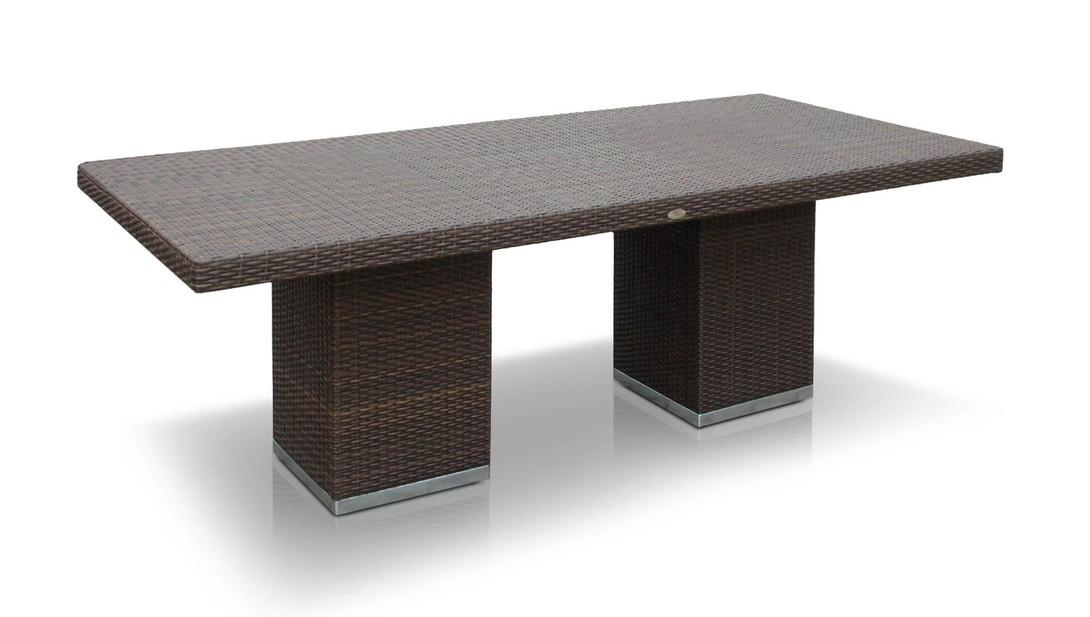 Стол PacificСтолы и столики для сада<br>Стол со стеклом.<br>Цвет плетения: mocca<br><br>Material: Искусственный ротанг<br>Length см: 220<br>Width см: 100<br>Depth см: None<br>Height см: 75<br>Diameter см: None