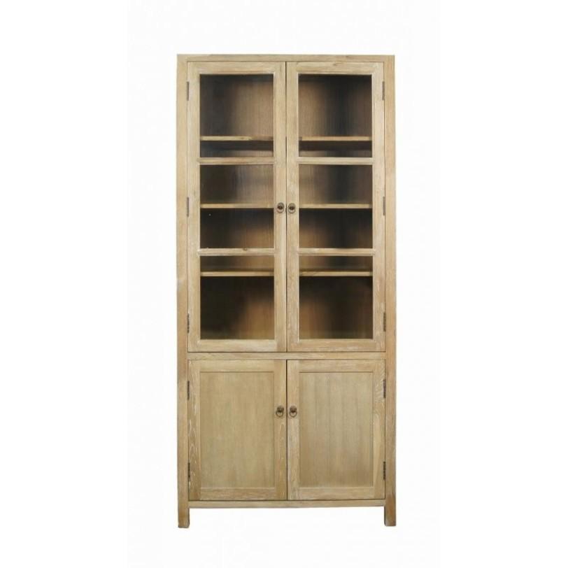 Шкаф CountryПосудные шкафы<br>Деревянный шкаф классической прямоугольной формы отдаленно напоминает старый добрый &amp;quot;бабушкин&amp;quot; сервант. Именно в таких шкафах традиционно хранят парадные сервизы и чутко следят за их сохранностью. Пожалуй, дерево в облике этого шкафа играет главную роль. Минимум деталей во внешней отделке подчеркивают благородство натурального дуба. &amp;amp;nbsp;Белые &amp;quot;прожилки&amp;quot; делают шкаф еще более привлекательным для ценителей натуральной мебели.<br><br>Material: Дуб<br>Length см: 90<br>Width см: 40<br>Depth см: None<br>Height см: 195<br>Diameter см: None