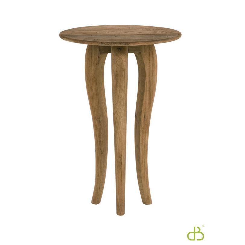 Консоль - стол LucikИнтерьерные консоли<br>Круглый консольный стол Lucik на трех ножках-кабриоль, напоминающих щупальца, подобен застывшему подводному обитателю, магическим образом оказавшемуся на суше.<br><br>Material: Тик<br>Length см: None<br>Width см: 45.0<br>Depth см: 45.0<br>Height см: 66.0<br>Diameter см: None