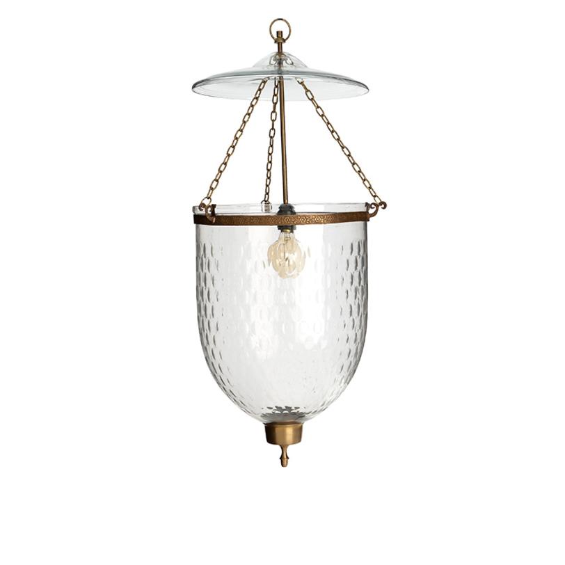 Подвесной светильник Bexley Glass smallПодвесные светильники<br>Подвесной светильник-латерна Bexley Glass small с плафоном из прозрачного стекла. Цвет металла: состаренная латунь. Крепление осуществляется на крюк. Высоту можно регулировать за счет звеньев цепи.<br>Количество лампочек: 1<br>Мощность: 1x 40 Вт<br>Тип лампы: НАКАЛИВАНИЯ, Е14<br><br>Material: Стекло<br>Length см: 24<br>Width см: 24<br>Depth см: None<br>Height см: 58<br>Diameter см: None