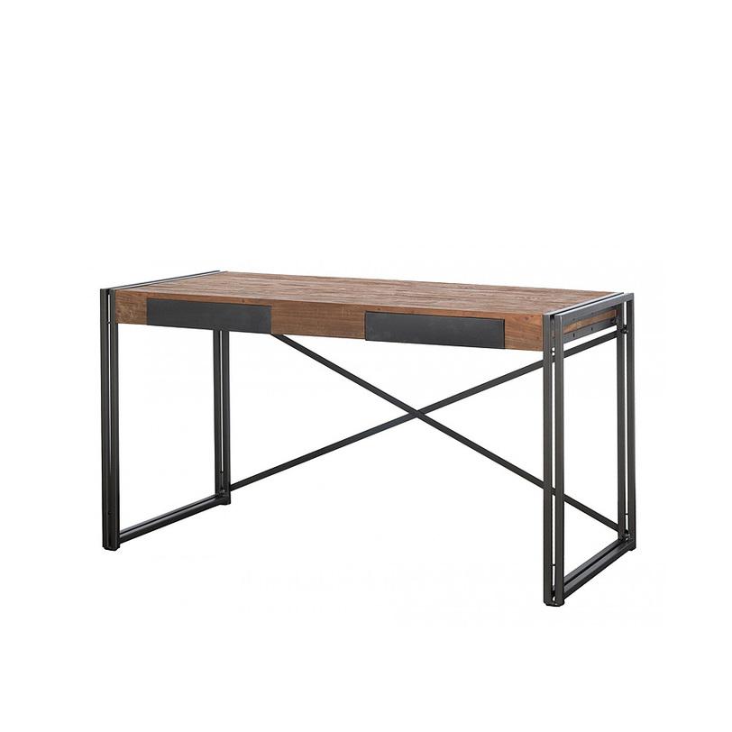 Стол письменный Dinky 140Письменные столы<br>&amp;lt;div&amp;gt;Письменный стол &amp;amp;nbsp;&amp;quot;Dinky 140&amp;quot; проникнут легким антикварным налетом. Столешницу классической прямоугольной формы держат оригинальные ножки из металла. Перекрестная штанга в задней части создает впечатление складского крепежа. Два ящика скрыты металлическими пластинами. Подобный предмет займет достойное место в рабочем кабинете или библиотеке.&amp;lt;/div&amp;gt;&amp;lt;div&amp;gt;&amp;lt;br&amp;gt;&amp;lt;/div&amp;gt;&amp;lt;br&amp;gt;<br><br>Material: Тик<br>Length см: 140<br>Width см: 70<br>Depth см: None<br>Height см: 78<br>Diameter см: None