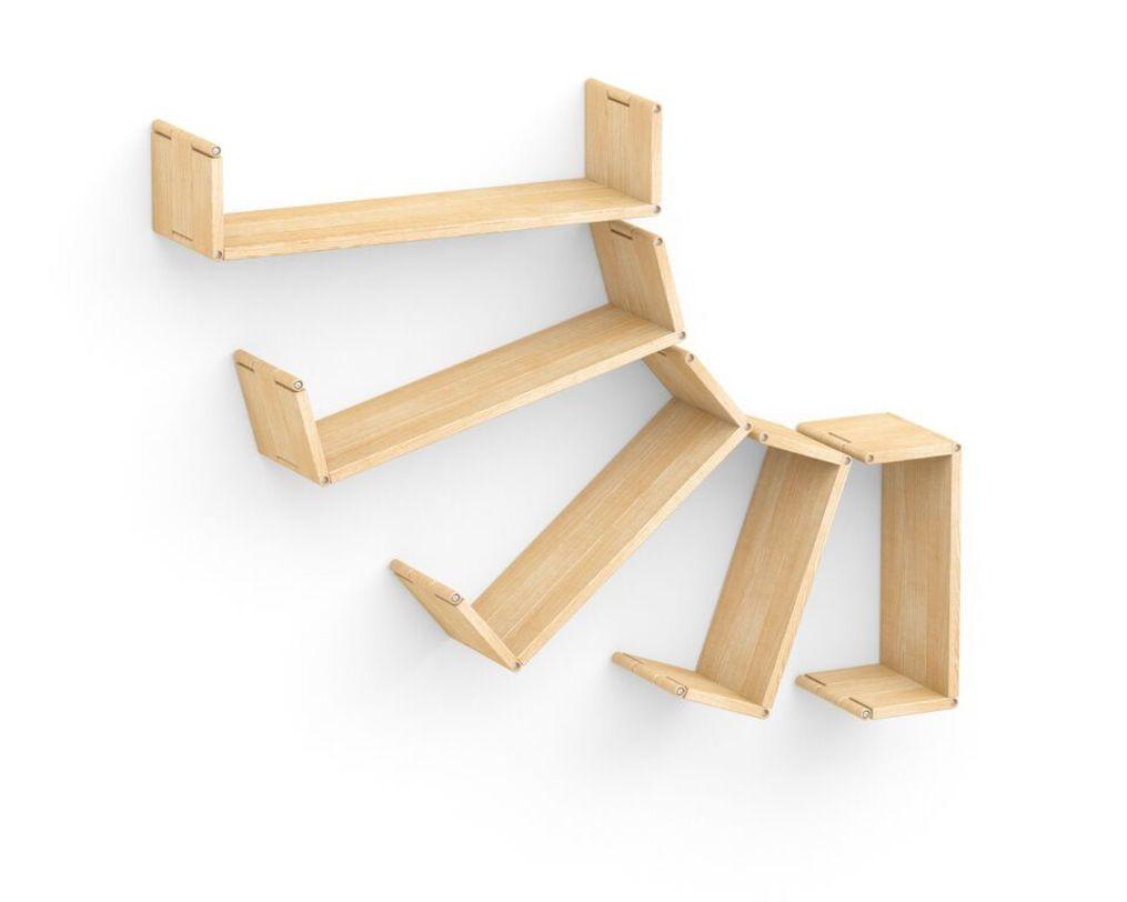 Полка Flex shelf. Set 108Полки<br>&amp;quot;Flex shelf. Set 109&amp;quot; ? необычная дизайнерская полка, которая поможет вам развить фантазию. Она состоит из фрагментов &amp;amp;nbsp;различной формы и длины. Это позволяет собрать именно тот вариант полки, который больше всего придется вам по душе. Кроме того, данный факт дает возможность изменять конфигурацию так часто, как вам вздумается, хоть каждый день привнося в интерьер комнаты что-то новое.<br><br>Material: Ясень<br>Length см: None<br>Width см: 121<br>Depth см: 22<br>Height см: 94<br>Diameter см: None