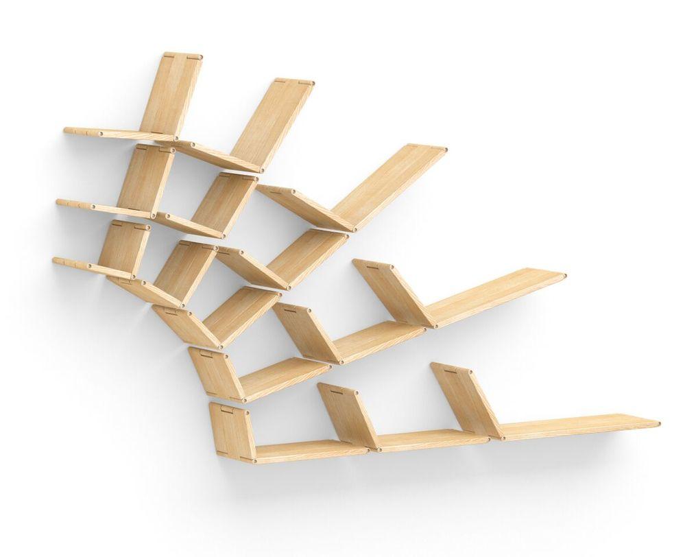 Полка Flex shelf. Set 111Полки<br>&amp;quot;Flex shelf. Set 111&amp;quot; ? полка весьма необычной формы, которая может быть собрана в любой конфигурации. Представленная в различных цветовых вариантах, она прекрасно впишется в современные эклектичные интерьеры. Интересный вид этой полки особенно понравится тем, кто любит свободу самовыражения и не ограничивает себя рамками предрассудков.<br><br>Material: Ясень<br>Length см: None<br>Width см: 204<br>Depth см: 22<br>Height см: 123<br>Diameter см: None
