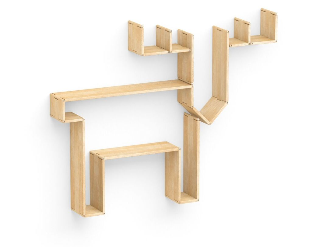 Полка Flex shelf. Set 115Полки<br>&amp;lt;div&amp;gt;Кто сказал, что над камином в гостиной можно вешать только настоящую голову оленя? Теперь у вас появилась возможность сохранить природу и привнести традиционные детали в интерьер с полкой&amp;amp;nbsp;&amp;quot;Flex shelf. Set 115&amp;quot;. Она изготовлена в форме оленя. Такая полка, способная трансформироваться в любые другие формы, станет лучшим украшением интерьера, сочетающего в себе множество различных стилей.&amp;amp;nbsp;&amp;lt;/div&amp;gt;&amp;lt;div&amp;gt;&amp;lt;span style=&amp;quot;line-height: 33.3333320617676px;&amp;quot;&amp;gt;&amp;lt;br&amp;gt;&amp;lt;/span&amp;gt;&amp;lt;/div&amp;gt;&amp;lt;div&amp;gt;&amp;lt;br&amp;gt;&amp;lt;/div&amp;gt;<br><br>Material: Ясень<br>Высота см: 127<br>Глубина см: 22