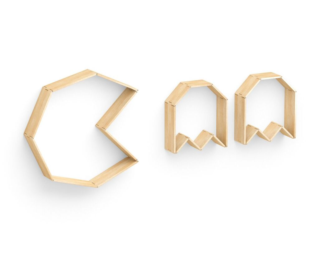 Полка Flex shelf. Set 122Полки<br>Поклонники одной из самых известных компьютерных аркад прошлого века не смогут остаться равнодушными к полке &amp;quot;Flex shelf. Set 124&amp;quot;. В ее очертаниях угадываются образы главных героев игры Pac-Man, имеющей огромное количество поклонников по всему земному шару. На такой эклектичной полке, способной трансформироваться, уместно будет разместить всю вашу коллекцию видеоигр различных жанров.&amp;lt;div&amp;gt;&amp;lt;span style=&amp;quot;line-height: 33.3333320617676px;&amp;quot;&amp;gt;&amp;lt;br&amp;gt;&amp;lt;/span&amp;gt;&amp;lt;/div&amp;gt;&amp;lt;div&amp;gt;&amp;lt;br&amp;gt;&amp;lt;/div&amp;gt;<br><br>Material: Ясень<br>Ширина см: 276.0<br>Высота см: 133.0<br>Глубина см: 22.0
