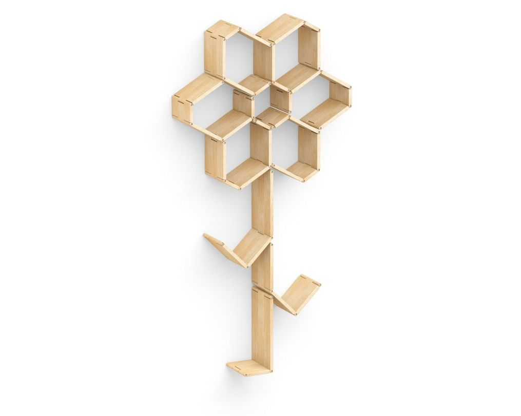 Полка Flex shelf. Set 126Полки<br>Любите цветы, но не имеете возможности ухаживать за ними? Украсьте свой дом роскошным цветком&amp;amp;nbsp;&amp;quot;Flex shelf. Set 126&amp;quot;, не требующим полива и подкормки. Выполненный в виде полки-трансформера, он подарит вам много нового пространства для хранения книг, ваз или других вещей. Кроме того, этот цветок будет выполнять функцию необычного настенного декора.&amp;lt;div&amp;gt;&amp;lt;br&amp;gt;&amp;lt;/div&amp;gt;<br><br>Material: Ясень<br>Ширина см: 92<br>Высота см: 87<br>Глубина см: 22