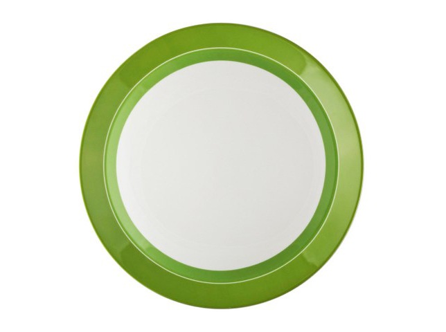 БЛЮДО КРУГЛОЕ UTD GREENТарелки<br>Еда, поданная в этом блюде, будет возбуждать аппетит. Такое действие на психику окажет зеленый цвет, ассоциирующийся со здоровой и полезной пищей. Яркое оформление тарелки в эклектичном стиле, изюминкой которого выступает колоритная каемка, отлично будет смотреться в любом современном интерьере.<br><br>Material: Фарфор<br>Diameter см: 32