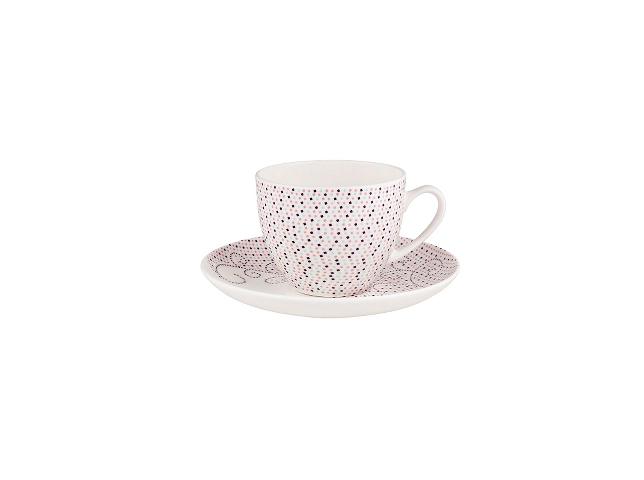 ПАРА ЧАЙНАЯ OUQUETE DE TULLEЧайные пары и чашки<br>&amp;quot;Ouquete de Tulle&amp;quot; ? эклектичная чайная пара, которая идеально подходит для украшения семейного завтрака. Игривый узор из маленьких розовых точек выглядит ярко и оптимистично. Лучезарный облик кружки и блюдца поднимает настроение в начале дня, помогая встречать каждое утро с улыбкой.&amp;lt;div&amp;gt;&amp;lt;br&amp;gt;&amp;lt;/div&amp;gt;&amp;lt;div&amp;gt;Набор из 4 шт.&amp;lt;/div&amp;gt;<br><br>Material: Фарфор