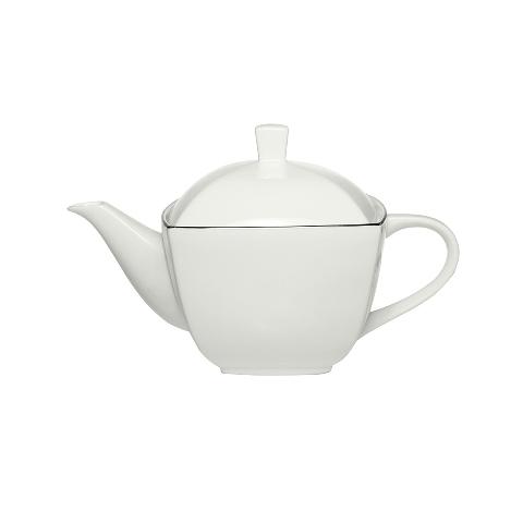 ЧАЙНИК COUTURE PLATINUMЧайники<br>&amp;quot;Couture Platinum&amp;quot; ? чайник, оформленный строго и элегантно, как и полагается в буржуазных домах Америки. Белый фарфор лишен какого-либо декора. Изюминку дизайну чайника добавляют плавные линии силуэта, рождающие конструкцию оригинальной геометрии.<br><br>Material: Фарфор