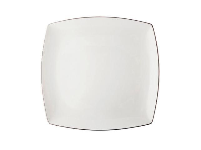 БЛЮДО КВАДРАТНОЕ COUTURE PLATINUMТарелки<br>Немногие из людей задумываются над тем, что посуда должна гармонировать по стилю с оформлением кухни или столовой. Квадратное блюдо &amp;quot;Couture Platinum&amp;quot; отлично будет смотреться в интерьерах классического американского стиля. Его строгий декор в белом цвете выглядит изысканно и одновременно интересно благодаря черной окантовке по краю.<br><br>Material: Фарфор<br>Length см: 31<br>Width см: 31