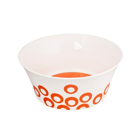 Чаша UTD ORANGEТарелки<br>&amp;quot;UTD ORANGE&amp;quot; – это веселый и задорный отсыл дизайнеров посуды MIKASA к стилю поп-арт. Белая фарфоровая чаша для супа и бульона разрисована веселыми оранжевыми кругами. А как известно, оранжевый цвет возбуждает аппетит. С такой посудой ваши члены семьи точно попросят добавки!<br><br>Material: Фарфор<br>Diameter см: 22