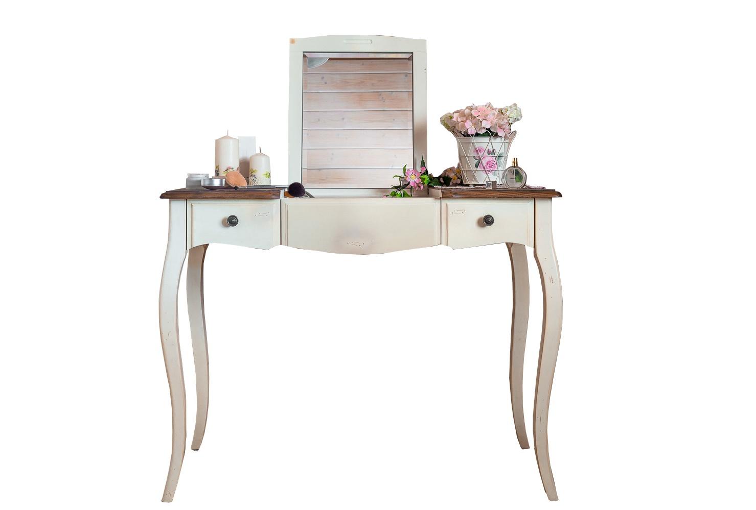 Туалетный столик Blanc bonbonТуалетные столики<br>Столик &amp;quot;Blanc&amp;amp;nbsp;Bonbon&amp;quot; очарует любую кокетку, которой нравится крутиться перед зеркалом и примерять на себя новые образы. Он позволит ей удобно разместить косметику и драгоценности, так необходимые для создания привлекательного look-а. Романтичный дизайн в стиле прованс сделает времяпрепровождение за этим туалетным столиком еще более приятным.&amp;lt;div&amp;gt;&amp;lt;br&amp;gt;&amp;lt;/div&amp;gt;&amp;lt;div&amp;gt;Материал: массив березы&amp;lt;/div&amp;gt;<br><br>Material: Дерево<br>Length см: 100<br>Width см: 49<br>Height см: 77