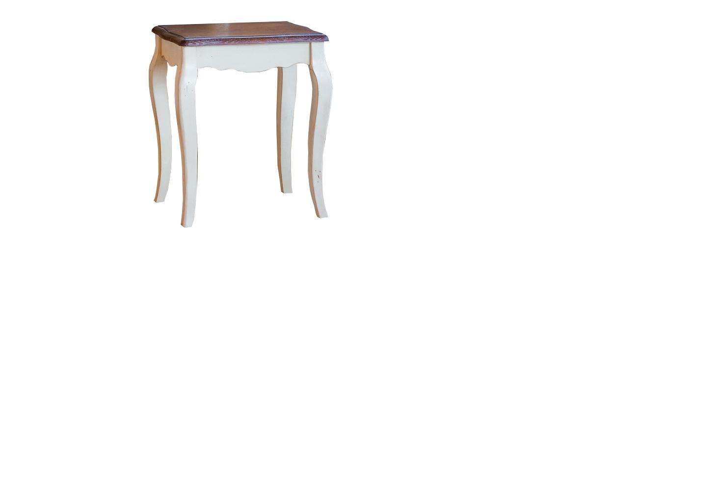 Табурет Blanc bonbonТабуреты<br>Дополнить изысканный вид женского туалетного столика может великолепный табурет &amp;quot;Blanc Bonbon&amp;quot;. Он оформлен в утонченном стиле прованс, ключевыми аспектами которого являются легкость и романтизм. Удивительное благородство табурета прекрасно подчеркивается изогнутыми белыми ножками. Они отменно гармонируют с контрастным сиденьем карамельного цвета.&amp;lt;br&amp;gt;<br><br>Material: Дерево<br>Ширина см: 31<br>Высота см: 50