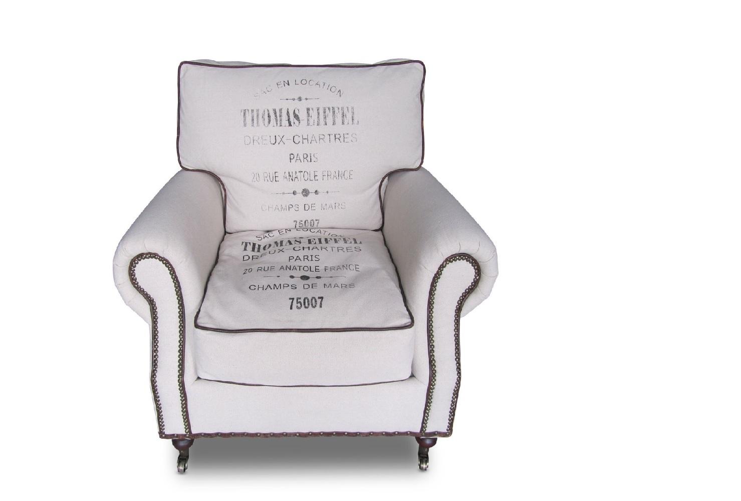 КреслоИнтерьерные кресла<br>Это мягкое и удобное кресло превосходно гармонирует с интерьерами в стиле лофт. Оно имеет приятный бежевый цвет, который добавляет брутальному и строгому пространству больше света и уюта. Интересный принт делает вид кресла более стильным. Клепки с кожаными вставками добавляют оформлению некоторую грубость, которая не смотрится отталкивающе.<br><br>Каркас: хвойные породы дерева. В нижней части каркаса используются резинотканевые ремни, пропитанные каучуком и придающие дополнительную мягкость. Отделка: 20% полиэстер, 80% лен. На подушках с одной стороны нанесен принт, с другой отсутствует, двухсторонние. Наполнитель: подушки-спинки пух-перо серого гуся, в новой поставке микромакс; подушки-сиденье пух-перо, в новой поставке нижний слой ППУ, а верхний микромакс. Все наполнение помещено в очень плотный чехол с простежкой. Все остальные элементы также изготовлены из ППУ.<br><br>Material: Текстиль<br>Ширина см: 100.0<br>Высота см: 90.0<br>Глубина см: 90.0