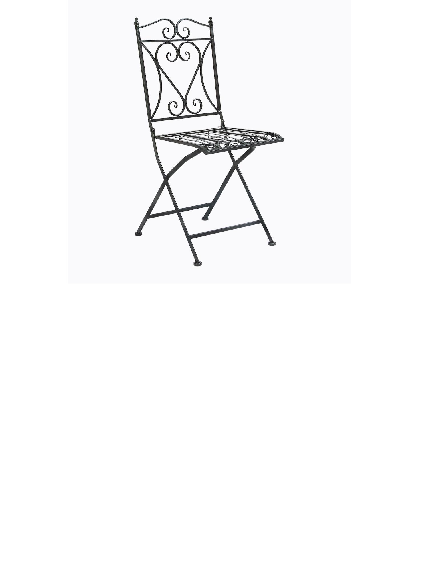 Складной прямоугольный стул «Тюильри» (черный антик)