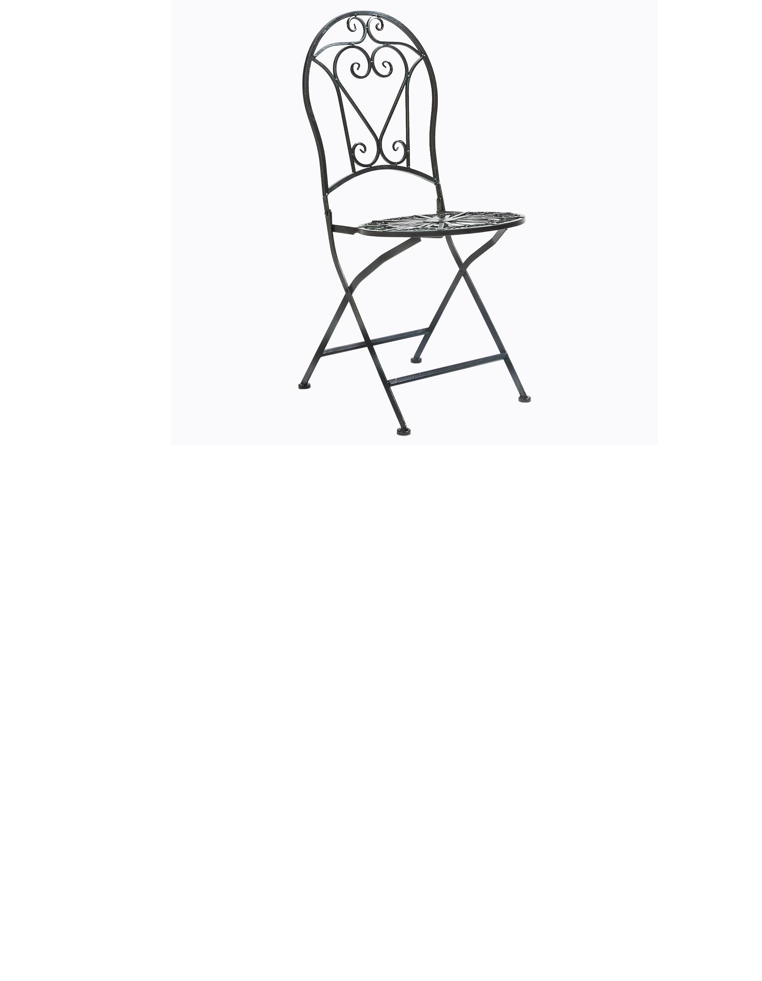 Складной круглый стул «Тюильри» (черный антик)