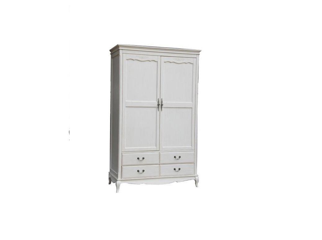 ШкафПлатяные шкафы<br>Этот шкаф передает дух солнечного Прованса. Декоративная резьба украшает части фасада: распашные дверцы и нижнюю планку. Выпуклые ножки дополняет верхняя каптиель. Романтичный образ шкафа подчеркивают фигурные ручки из металла.&amp;amp;nbsp;Белый цвет в отделке наполнит комнату светом и воздухом.&amp;amp;nbsp;Идеально подойдет для интерьеров в&amp;amp;nbsp;стиле прованс или кантри.<br><br>Material: Дерево<br>Width см: 130<br>Depth см: 60<br>Height см: 210