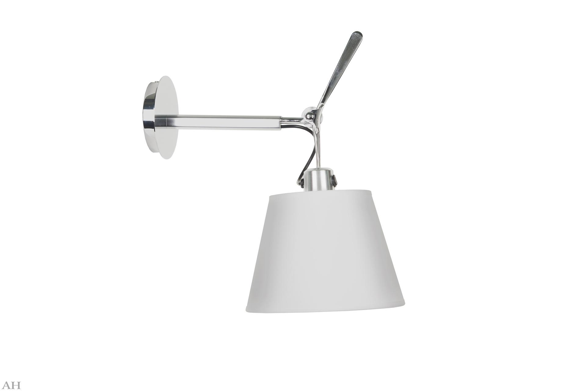 БраБра<br>Настенный светильник от Crystal Light отличается особой изысканностью, которая выражается в его лаконичном и элегантном оформлении. Ничего лишнего ? только самые необходимые детали. Это делает бра идеальным для минималистичных скандинавских интерьеров.&amp;lt;div&amp;gt;&amp;lt;br&amp;gt;&amp;lt;/div&amp;gt;&amp;lt;div&amp;gt;Бра с одним тканевым плафоном белого цвета, металлическое основание, цвет матовый хром. Состоит из 2-х частей: L1 (неподвижная, от стены) - 22 см, L2 (подвижная, до плафона) - 15 см. В общем, с верхней декоративной частью - 28 см. Диаметр основания 13 см, диаметр плафона 24 см.&amp;amp;nbsp;Патрон E27, мощность max 1*60W.&amp;lt;/div&amp;gt;<br><br>Material: Металл<br>Length см: 28<br>Diameter см: 24