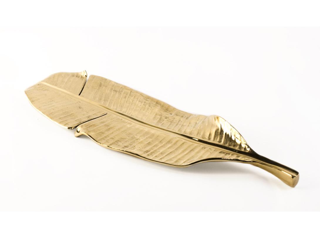 Блюдо Banana LeafДекоративные блюда<br>Первый вариант выполнен из бронзы<br>Второй вариант выполнен из бронзы с последующим состариванием поверхности (отделка – &amp;quot;античная бронза&amp;quot;)<br><br>Material: Латунь<br>Length см: 59