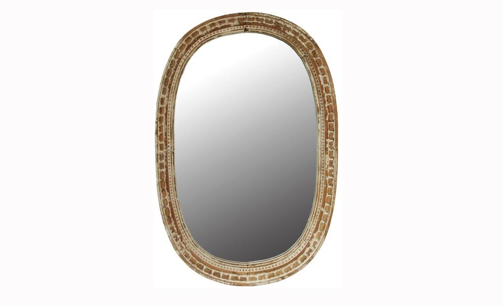 Зеркало Oval CadenetНастенные зеркала<br>&amp;quot;Oval Cadenet&amp;quot; ? зеркало, дизайн которого является воплощением утонченного вкуса, сдержанности и аристократизма. Искусственно состаренная деревянная рама выглядит загадочно, напоминая кирпичную кладку.<br><br>Material: Дерево<br>Width см: 100<br>Depth см: 9<br>Height см: 150