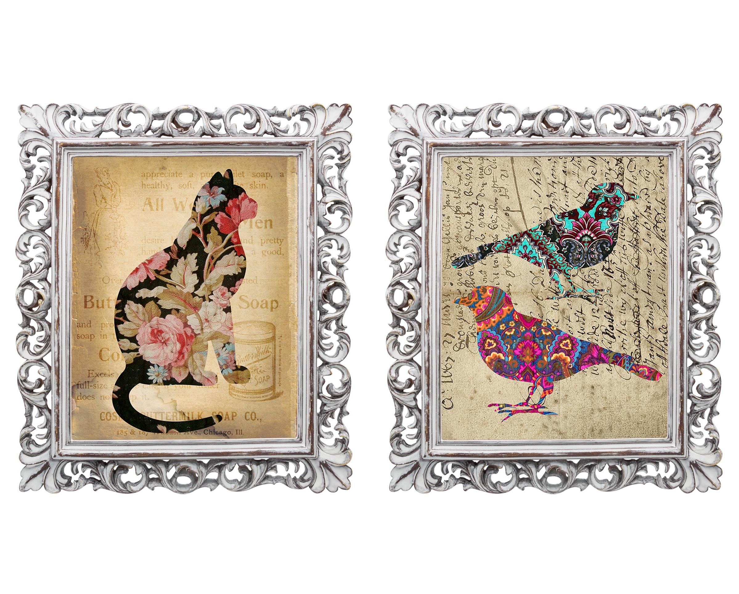 Набор из двух репродукций старинных картин в раме Мадлен. Арт-ДекоКартины<br>Репродукции старинных картин «Арт-Деко» в красивых рамах созданы для того, чтобы притягивать взгляд, удивлять гостей Вашего дома. Живое настроение этих картин способно изменить атмосферу в доме так, как Вам захочется. Изображения обрамлены винтажными рамами, искусная техника состаривания придает изделию особую теплоту и загадочность. Благородная патина на поверхности рамы — интригующее приглашение к прогулке в мир старинных реликвий! Изображение картины наполнено уникальными эмоциями и тайной, скрытой под кристально прозрачным стеклом. Картину можно повесить на стену, а можно поставить, например, на стол или камин. Защитный стеклянный слой гарантирует долгую жизнь прекрасному изображению. А если Вам захочется обновить интерьер, Вы можете с легкостью заменить изображение картины!&amp;lt;div&amp;gt;&amp;lt;br&amp;gt;&amp;lt;/div&amp;gt;&amp;lt;br&amp;gt;<br><br>Material: Бумага<br>Width см: 28,8<br>Depth см: 2,3<br>Height см: 33,8