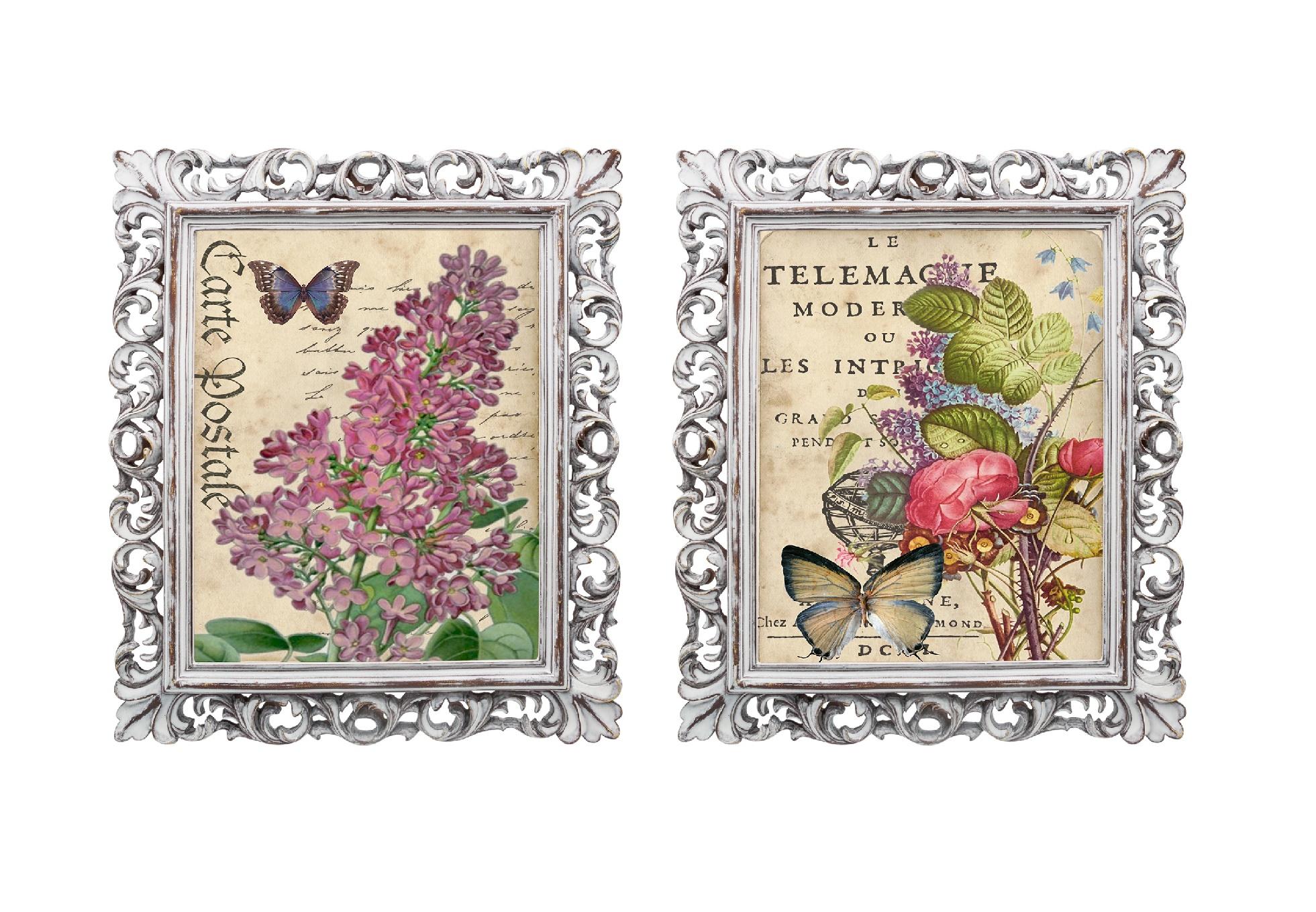 Набор из двух репродукций МадленКартины<br>Репродукции старинных картин &amp;quot;Дивный сад&amp;quot; помогут Вам создать атмосферу, располагающую к уюту. Они дополнят романтический образ Вашего интерьера. Изображения обрамлены ажурными рамами, искусная техника состаривания придает изделию особую теплоту и загадочность. Благородная патина на поверхности рамы — интригующее приглашение к прогулке в мир старинных реликвий! Изображение картины наполнено уникальными эмоциями и тайной, скрытой под кристально прозрачным стеклом. Картину можно повесить на стену, а можно поставить, например, на стол или камин. Защитный стеклянный слой гарантирует долгую жизнь прекрасному изображению. А если Вам захочется обновить интерьер, Вы можете с легкостью заменить изображение картины!&amp;lt;div&amp;gt;&amp;lt;br&amp;gt;&amp;lt;/div&amp;gt;<br><br>Material: Бумага<br>Ширина см: 28<br>Высота см: 33<br>Глубина см: 2