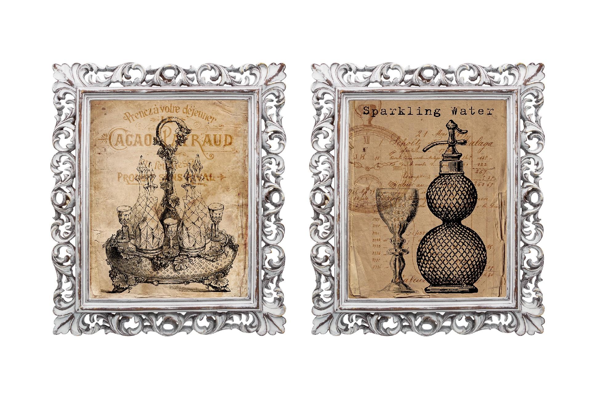 Набор из двух репродукций старинных картин в раме Мадлен. АперитивКартины<br>Репродукции старинных картин &amp;quot;Аперитив&amp;quot; - словно дверца в невероятный мир, они позволят Вам отправиться в увлекательное путешествие или окунуться в романтичную атмосферу. Эти старинные картины вызывают исключительно позитивные эмоции. Изображения обрамлены винтажными рамами, искусная техника состаривания придает изделию особую теплоту и загадочность. Благородная патина на поверхности рамы — интригующее приглашение к прогулке в мир старинных реликвий! Изображение картины наполнено уникальными эмоциями и тайной, скрытой под кристально прозрачным стеклом. Картину можно повесить на стену, а можно поставить, например, на стол или камин. Защитный стеклянный слой гарантирует долгую жизнь прекрасному изображению. А если Вам захочется обновить интерьер, Вы можете с легкостью заменить изображение картины!&amp;lt;div&amp;gt;&amp;lt;br&amp;gt;&amp;lt;/div&amp;gt;<br><br>Material: Бумага<br>Width см: 28,8<br>Depth см: 2,3<br>Height см: 33,8