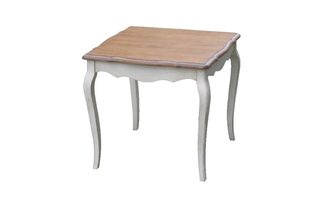 Приставной столик Blanc bonbonПриставные столики<br>&amp;quot;Blanc Bonbon&amp;quot; ? приставной столик, на котором прекрасно будет смотреться травяной чай или искрящийся сидр. Пропитанный французским шармом дизайн позволит вам мысленно перенестись к истокам Луары. Здесь, в беззаботной атмосфере загородного радушия, вы сможете отдохнуть душой.&amp;amp;nbsp;<br><br>Material: Дерево<br>Length см: 60<br>Width см: 60<br>Height см: 55