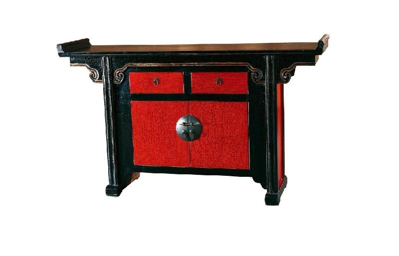 Комод Гуй-джяИнтерьерные тумбы<br>&amp;quot;Гуй-джя&amp;quot; ? комод, в облике которого заключено величие старинной китайской мебели. Его оформление имитирует декор предметов интерьера периода раннего правления династии Мин. Изысканная резьба, украшающая столешницу, выполнена в форме жезла жуи, способного приманить в дом сказочную удачу. Этот комод&amp;amp;nbsp;не просто&amp;amp;nbsp;станет изюминкой пространства, он подарит вам счастье.<br><br>Material: Дерево<br>Ширина см: 130.0<br>Высота см: 90.0<br>Глубина см: 35.0