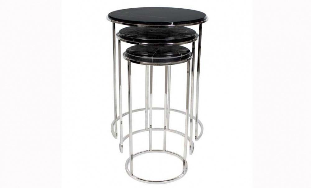 Столик Round Millennium маленькийПриставные столики<br>Именно на тщательной проработке всех мелочей сделан акцент при создании коллекций Eichholtz, поэтому каждый элемент имеет свои уникальные особенности, будь то диваны, столы, стулья, светильники или люстры Eichholtz.&amp;lt;div&amp;gt;Материал: Нержавеющая сталь, черный мрамор.&amp;amp;nbsp;&amp;lt;/div&amp;gt;&amp;lt;div&amp;gt;Стоимость указана за самый малелький столик.&amp;lt;/div&amp;gt;<br><br>Material: Мрамор<br>Height см: 55<br>Diameter см: 28