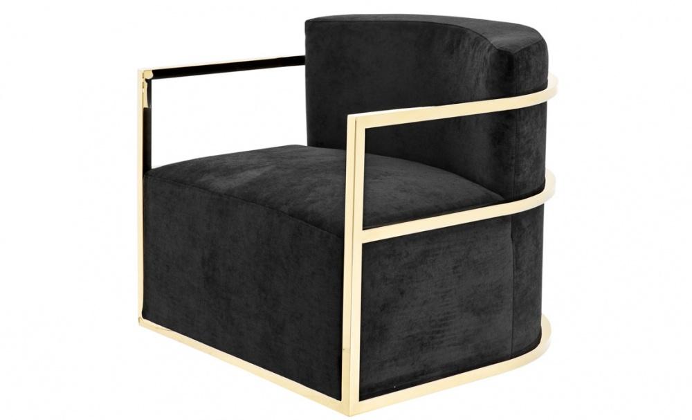 Кресло EmilioИнтерьерные кресла<br>Именно на тщательной проработке всех мелочей сделан акцент при создании коллекций Eichholtz, поэтому каждый элемент имеет свои уникальные особенности, будь то диваны, столы, стулья, светильники или люстры Eichholtz.<br><br>Material: Бархат<br>Ширина см: 76<br>Высота см: 70