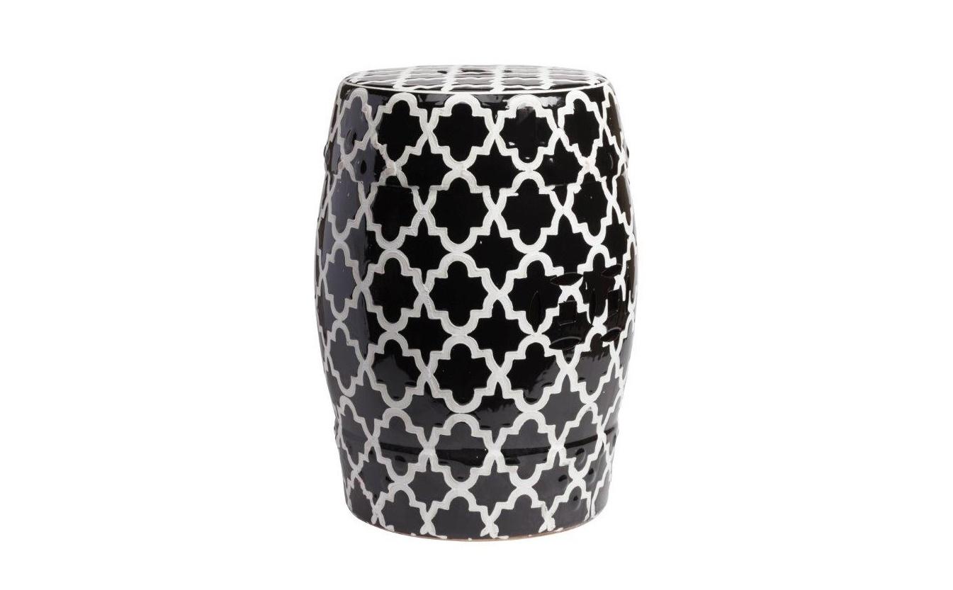 Столик-табурет Istanbul Stool BlackТабуреты<br>Оригинальный предмет интерьера для ценителей восточного стиля. Плавные линии, черно-белая расцветка, высококачественная керамика. &amp;quot;ISTANBUL STOOL BLACK&amp;quot; имеет двойное назначение: его можно использовать как табурет для гостей или миниатюрный стол. А может быть, на нем займет свое место Лампа Аладдина или другой необычный &amp;amp;nbsp;аксессуар? В любом случае он привлечет внимание и станет тонким акцентом в убранстве комнаты.<br><br>Material: Керамика<br>Высота см: 45