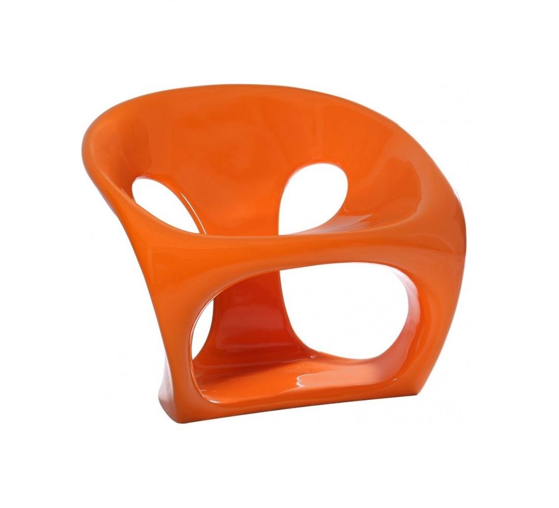 Полукресло Hara ChairПолукресла<br>Сочный оранжевый цвет заставляет улыбнуться, а оригинальный дизайн полукресла &amp;quot;HARA CHAIR&amp;quot; напоминает о морском гроте, которому волны и ветер придали интересную форму. Кресло исключительно эргономично и комфортабельно, а его форма обеспечивает максимальную устойчивость. Прочный пластик легко моется, поэтому изделие можно использовать как в интерьере дома, так и в саду.<br><br>Material: Пластик<br>Length см: 69<br>Width см: 67<br>Height см: 63