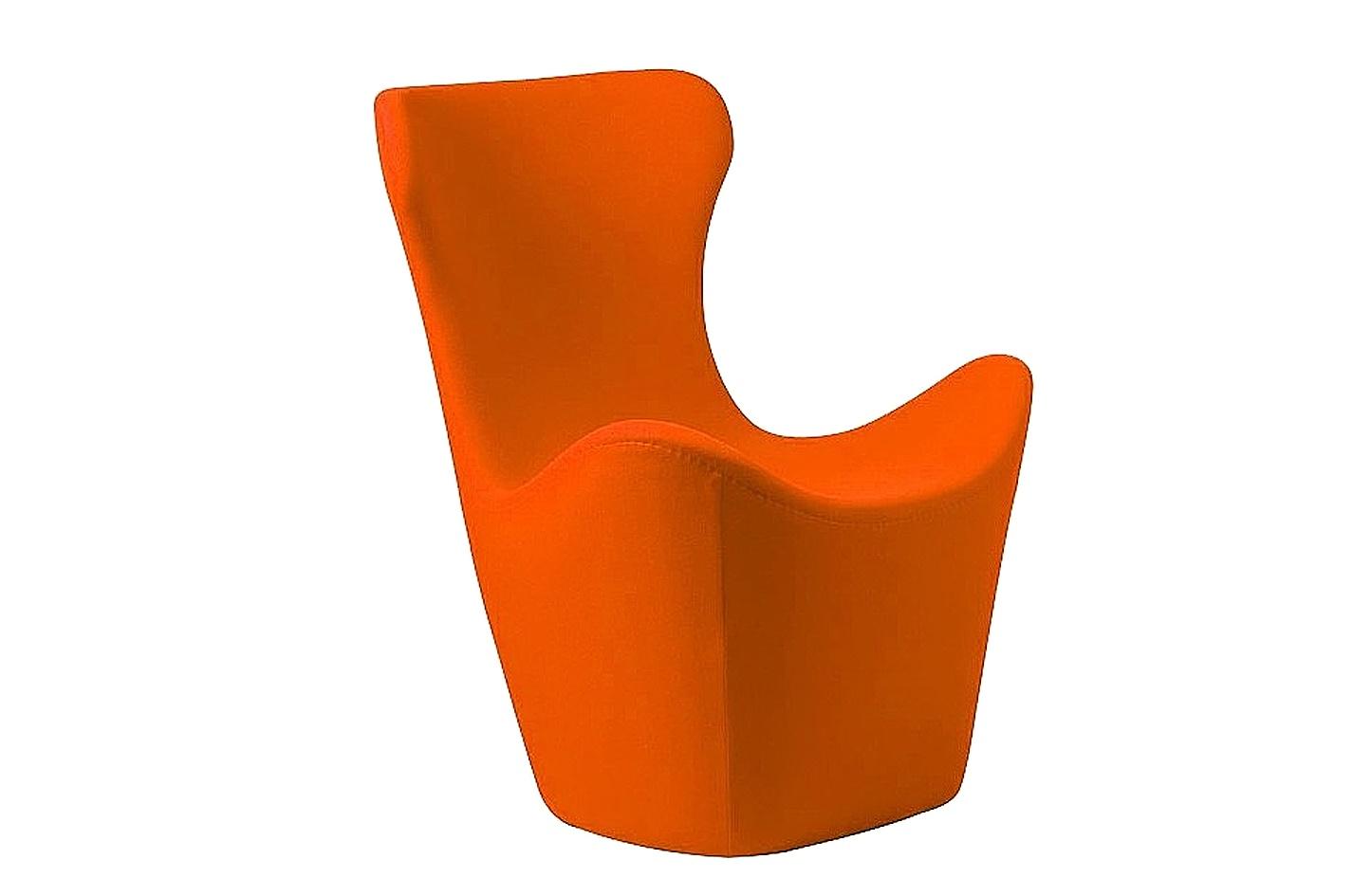 Кресло Papilio Lounge ChairИнтерьерные кресла<br>Сочетание необычного дизайна, комфортного мягкого кашемира и насыщенного оранжевого цвета. Это кресло для отдыха &amp;quot;PAPILIO LOUNGE CHAIR&amp;quot;, модель японского дизайнера Наото Фукасава, которая станет ярким акцентом современного интерьера. В нем будет так тепло зимой и прохладно летом. Эргономичная высокая спинка с подголовником обеспечит полную релаксацию. Идеальный союз – с оттоманкой для ног от того же мастера.<br><br>Material: Кашемир<br>Length см: 83<br>Width см: 82<br>Height см: 103