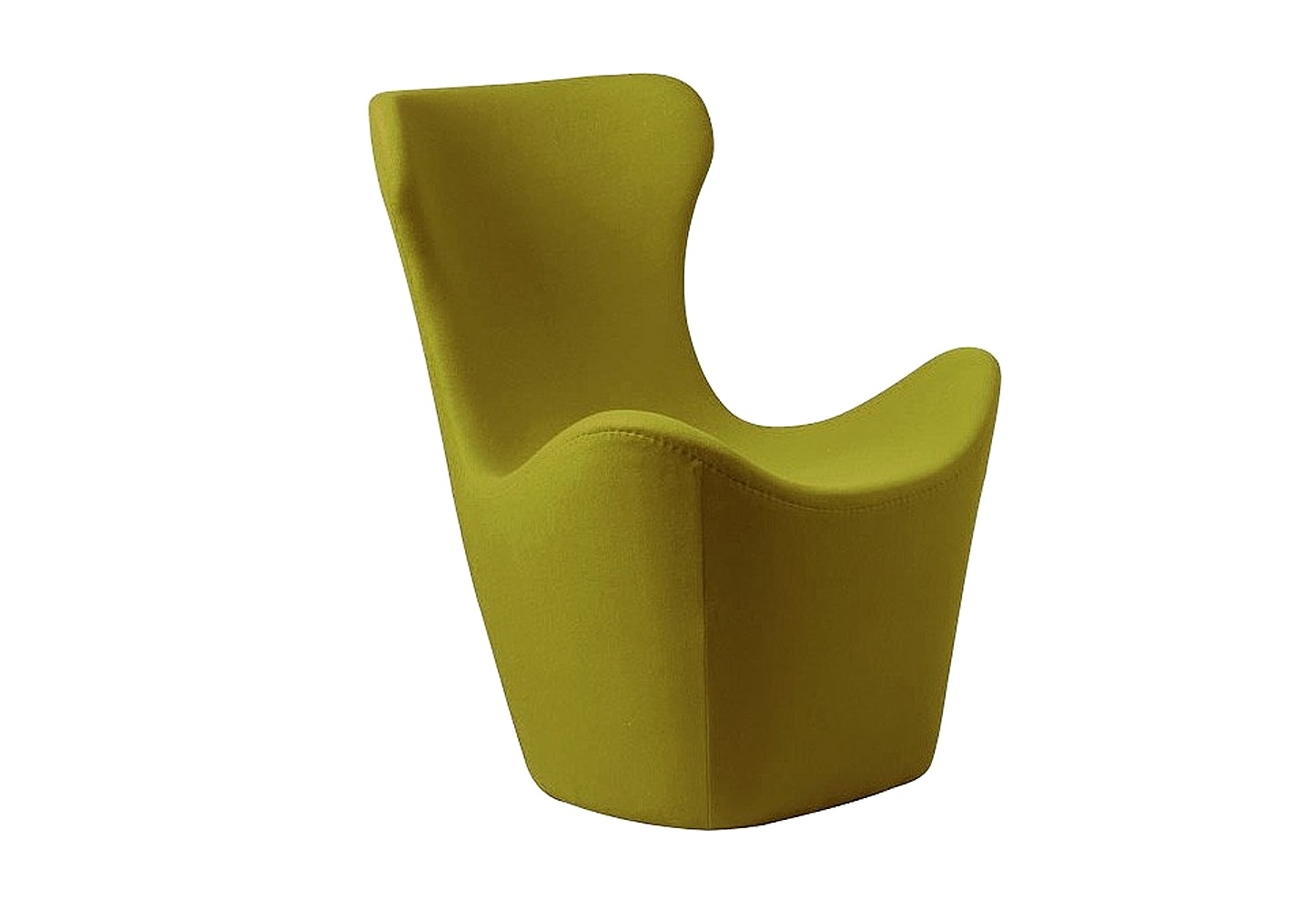 Кресло Papilio Lounge ChairИнтерьерные кресла<br>Изысканное оливковое кресло &amp;amp;nbsp;&amp;quot;PAPILIO LOUNGE CHAIR&amp;quot; от японского дизайнера Наото Фукасава невероятно комфортабельно: его высокая спинка с подголовником так и манит облокотиться &amp;amp;nbsp;на нее и отдохнуть. Обивка кресла изготовлена из натурального кашемира, поэтому кресло согреет в холодную погоду и останется прохладным на ощупь в жару. Оно &amp;amp;nbsp;прекрасно подойдет для интерьера в современном стиле.<br><br>Material: Кашемир<br>Length см: 83<br>Width см: 82<br>Height см: 103
