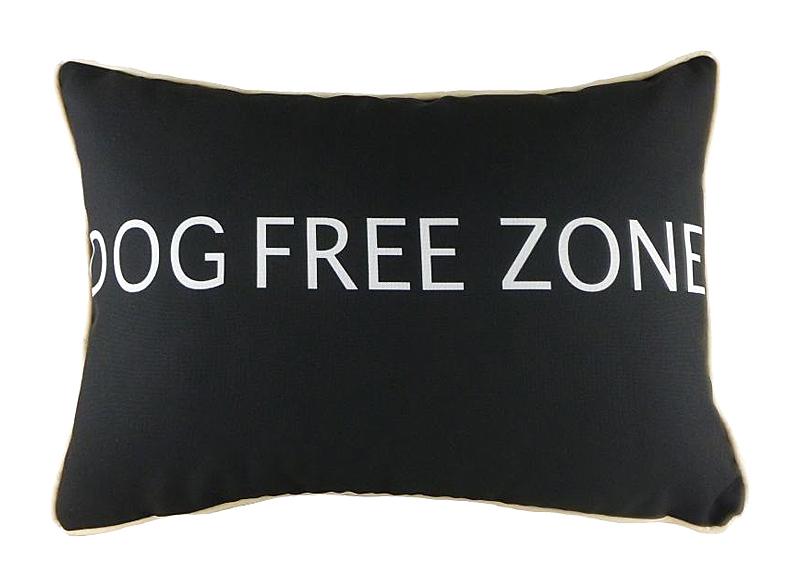 "Подушка с надписью ""Dog Free Zone"""