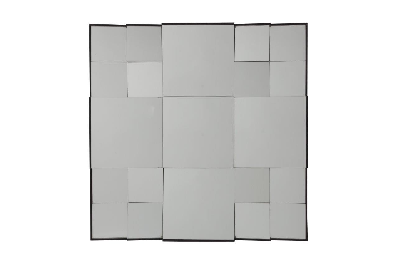 Зеркало MontadaНастенные зеркала<br>Оригинальное зеркало способно создать хорошее настроение, новое впечатление, подчеркнуть или полностью изменить интерьер вашего дома. Зеркало Montada состоит из множества зеркальных квадратов разного размера, расположенных под разными углами, что придает ему необычный объемный вид. Несомненно, оно замечательно впишется в интерьер вашего дома. Поразите своих гостей!<br><br>Material: Стекло<br>Length см: None<br>Width см: 76<br>Depth см: 2<br>Height см: 76
